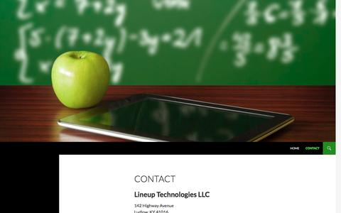 Screenshot of Contact Page lineuptech.com - Lineup Technologies - Contact - captured Nov. 9, 2016
