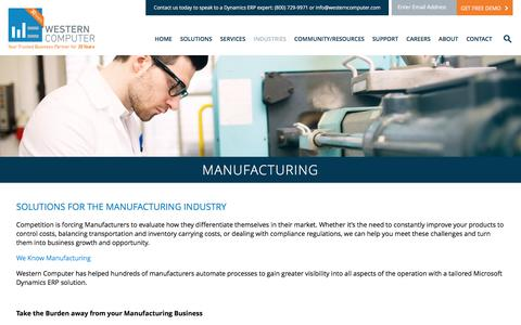 Microsoft Dynamics Solution for Manufacturing | Western Computer | www.westerncomputer.com