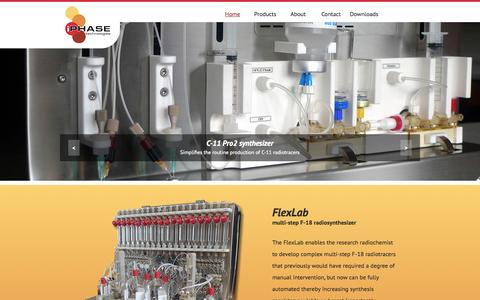 Screenshot of Home Page iphase.com.au - Home | iPHASE technologies - captured Oct. 6, 2014