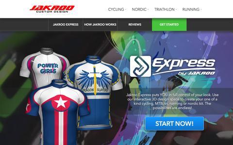 Screenshot of Home Page jakroo.com - Jakroo Custom Design - No Minimums | Free Pro Design - captured Jan. 22, 2016