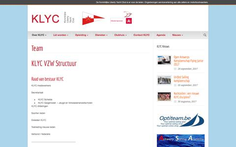 Screenshot of Team Page klyc.be - Team - KLYC - captured Oct. 17, 2017