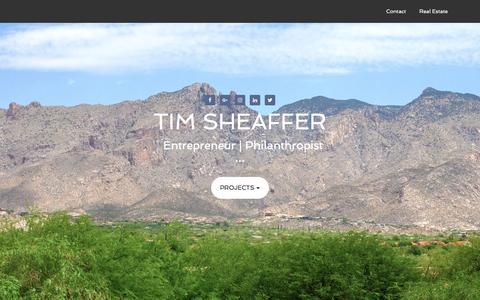 Screenshot of Home Page timsheaffer.com - Tim Sheaffer - Entrepreneur | Philanthropist - captured Jan. 22, 2017
