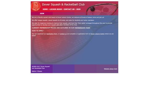 Screenshot of Signup Page dover-squash-club.co.uk - Dover Squash and Racketball Club - Join - captured Jan. 21, 2017