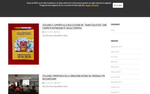 Screenshot of Press Page meccanostampi.it - Meccanostampi - Press - captured Oct. 1, 2018