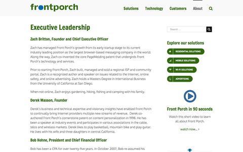 Screenshot of Team Page frontporch.com - Front Porch Management Team - captured Oct. 14, 2017