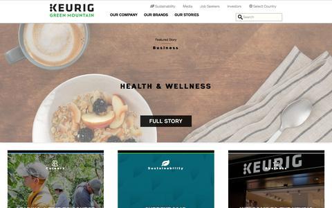 Screenshot of Home Page keuriggreenmountain.com - Home | Keurig Green Mountain, Inc. - captured Jan. 8, 2016