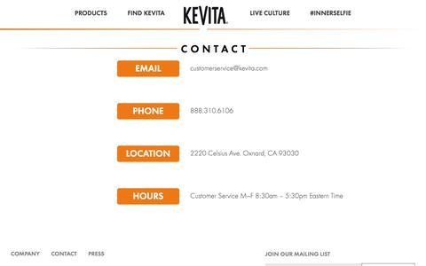 Contact | KeVita
