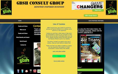 Screenshot of Contact Page gbshconsult.com - GBSH Contact Page | Top consulting firm contacts - captured July 20, 2018