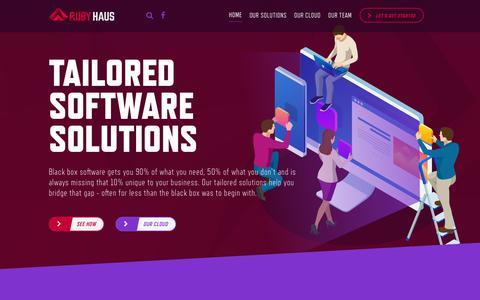 Screenshot of Home Page rubyhaus.com - Home | RubyHaus, Inc. - captured Nov. 16, 2018