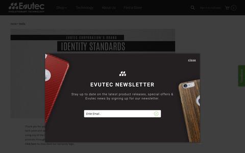 Screenshot of Press Page evutec.com - Media - captured Sept. 26, 2015