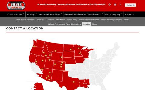 Screenshot of Locations Page arnoldmachinery.com - Locations  | Arnold Machinery Company - captured Nov. 21, 2016