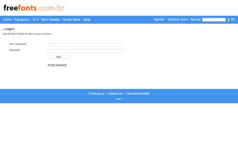 Screenshot of Login Page freefonts.com.br - Login - freefonts.com.br - captured April 25, 2016