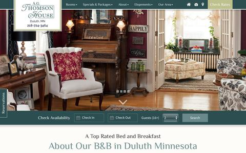 Screenshot of About Page Maps & Directions Page thomsonhouse.biz - B&B in Duluth, Minnesota :: Top Rated Bed and Breakfast - captured July 3, 2018