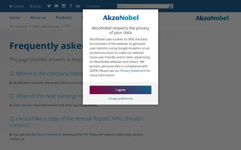 Screenshot of FAQ Page akzonobel.com - Frequently asked questions | AkzoNobel - captured Dec. 15, 2018