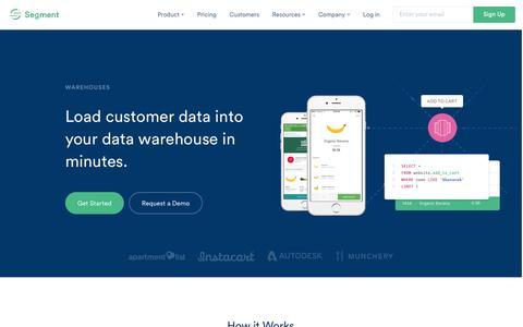 Load customer data into Redshift or Postgres | Segment | Segment