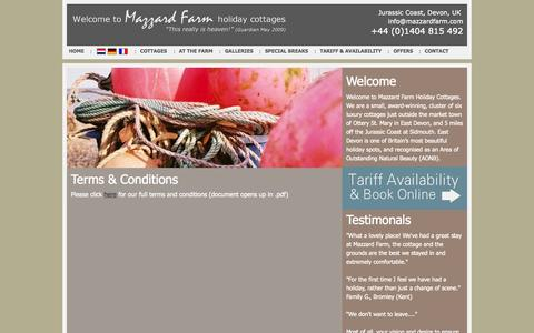 Screenshot of Terms Page mazzardfarm.com - Terms & Conditions | Mazzard Farm - captured Oct. 27, 2014