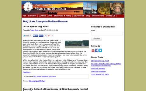 Screenshot of Blog lcmm.org - LCMM Blog - captured Oct. 1, 2014