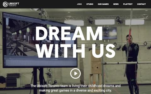 Screenshot of Jobs Page ubisoft.com - Ubisoft Toronto Jobs - Make Great Games With Us - captured Nov. 8, 2019