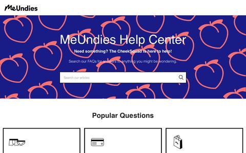 Screenshot of Contact Page meundies.com - MeUndies - captured Sept. 19, 2019