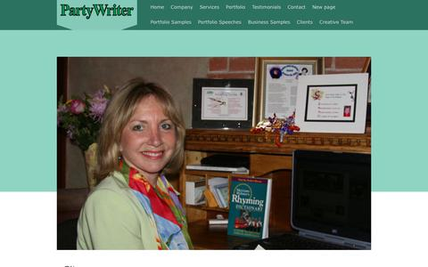 Screenshot of Site Map Page partywriter.com - Partywriter is dedicated to help you write the best speech, toast, poem, testimonial or personalized message. - Partywriter - captured Nov. 10, 2018