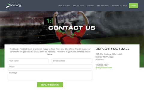 Screenshot of Contact Page deployfootball.com - Contact Us – Deploy Football - captured Oct. 18, 2017