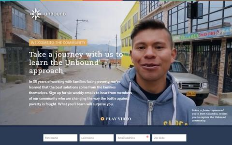 Screenshot of Landing Page unbound.org - Learn the Unbound approach - captured Oct. 3, 2016