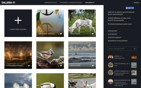 Screenshot of Home Page galleria.fi captured Nov. 26, 2018