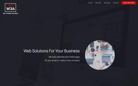 Screenshot of Home Page w3applications.com - W3 Applications Inc. - captured Nov. 2, 2018