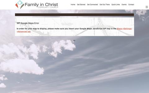 Screenshot of Maps & Directions Page familyinchrist.com - Map «  Family in Christ - captured Nov. 25, 2016
