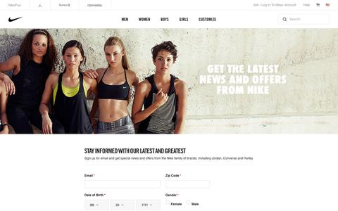 Screenshot of Signup Page nike.com - Nike Store. Shoes, Clothing & Gear. - captured June 30, 2017