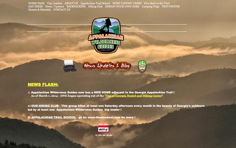 Screenshot of Blog awguides.com - Appalachian Wilderness Guide's Updates, News, Blog - captured Feb. 6, 2016
