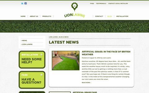 Screenshot of Blog lionlawns.co.uk - Lion Lawns Blog & News: Artificial Grass & Gardening News - captured Oct. 1, 2014