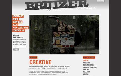 Screenshot of Services Page bruizer.biz - Corporate Video Production Services UK | Corporate Films | Corporate Videos | UK - captured Sept. 30, 2014