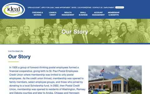Screenshot of About Page idealcu.com - About Ideal Credit Union | MN Credit Union - captured Oct. 11, 2018