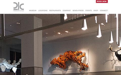 Screenshot of Home Page 21cmuseumhotels.com - 21c Museum Hotels - Louisville, Cincinnati, Bentonville - captured Jan. 22, 2016