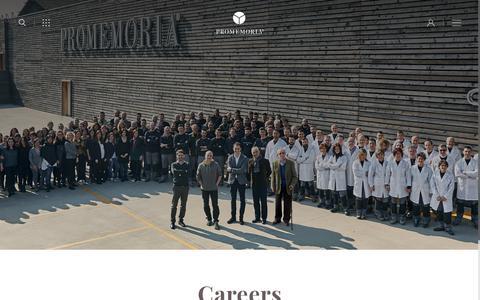 Screenshot of Jobs Page promemoria.com - Promemoria | Career Opportunities in Promemoria - captured Oct. 18, 2018