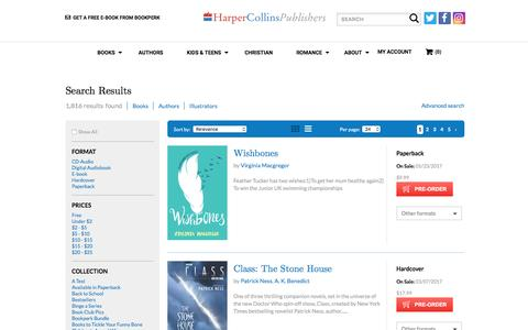 Search Results: HarperCollins Publishers