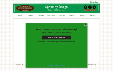 Screenshot of Contact Page sproutbydesign.com - Join Sprout and build greenhouses and gardens - captured June 19, 2017