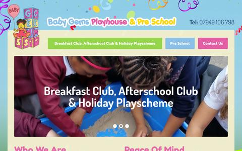 Screenshot of Blog thehousenannies.co.uk - Baby Gems | Breakfast Club, Afterschool Club & Holiday Playscheme | Pre School - captured Aug. 4, 2015