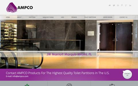 Screenshot of Home Page ampco.com - Ampco - captured Feb. 6, 2016