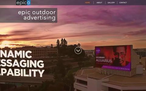 Screenshot of Home Page epico.com.au - epico, outdoor advertising - captured Aug. 13, 2017