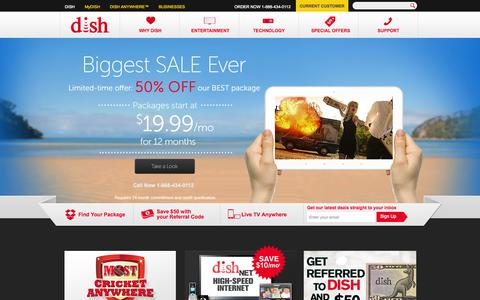 Screenshot of Home Page dish.com - DISH Satellite TV Packages & Service | DISH - captured Jan. 30, 2015