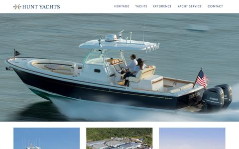 Screenshot of Home Page huntyachts.com - Hunt Yachts - captured Aug. 23, 2018