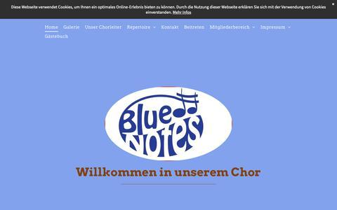 Screenshot of Home Page blue-notes-rheinbach.de - Blue Notes Rheinbach - captured Oct. 30, 2018