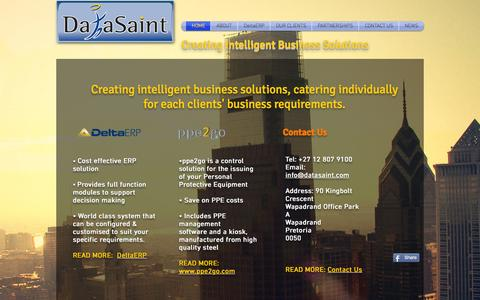 Screenshot of Products Page datasaint.com - DataSaint - Creating Intelligent Business Solutions - captured Sept. 25, 2015