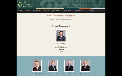 Screenshot of Team Page forestinvest.com - Forest Investment Associates - Forest Investment Associates - captured Nov. 25, 2016