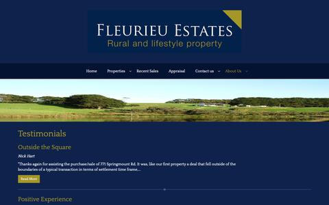 Screenshot of Testimonials Page fleurieuestates.com.au - Fleurieu Estates Pty Ltd - Testimonials - captured Oct. 10, 2018