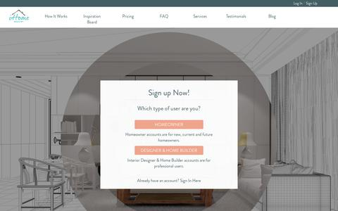 Screenshot of Signup Page ihomeregistry.com - iHomeRegistry - Create the Perfect Space | Organize - Design - Explore - Connect - captured July 8, 2018