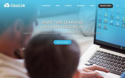 Screenshot of Home Page classlink.com - ClassLink - captured June 17, 2015
