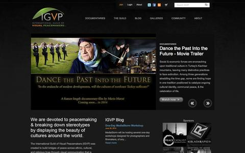 Screenshot of Home Page visualpeacemakers.org - Welcome | International Guild Of Visual Peacemakers - captured Oct. 6, 2014
